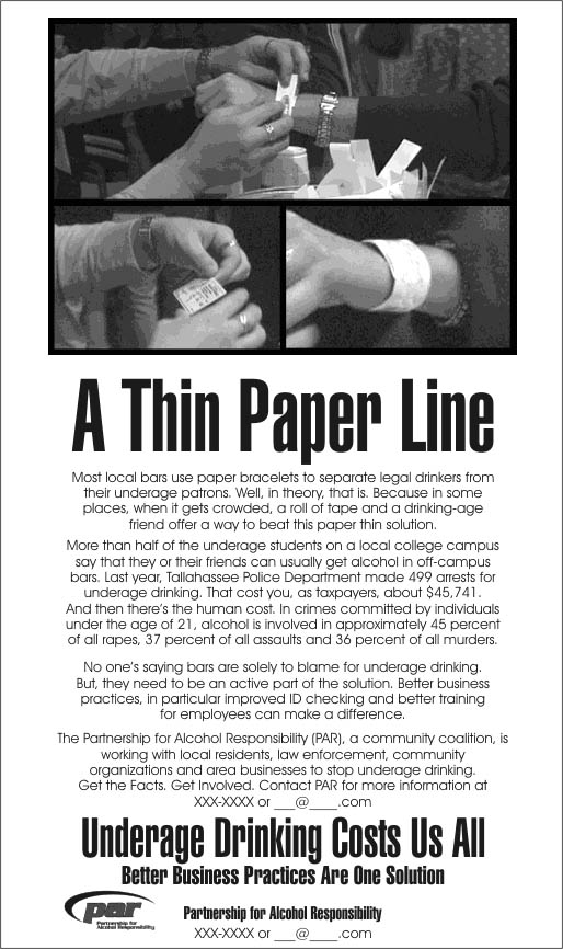 thin paper line